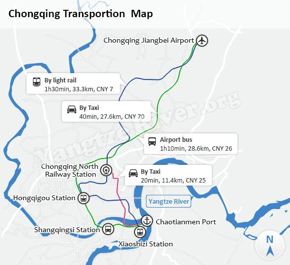 Chongqing Transportion Map