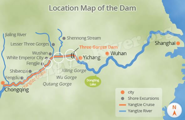 Three Gorges Dam Map Three Gorges Dam   Details about the Huge Water Conservancy Project